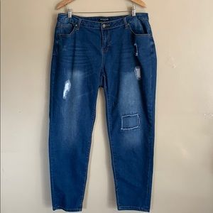 Baccini | Distressed Patch Jeans | 16W